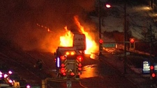 Serious vehicle fire in East Vancouver