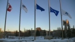 Mount Royal University - flags lowered