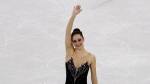 Kaetlyn Osmond waves after winning the bronze medal during the women's free figure skating final in the Gangneung Ice Arena at the 2018 Winter Olympics in Gangneung, South Korea on Friday, Feb. 23, 2018. (AP Photo/Morry Gash)