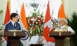 Prime Minister Justin Trudeau delivers a joint statement with Prime Minister of India Narendra Modi at Hyderabad House in New Delhi, India on Friday, Feb. 23, 2018. THE CANADIAN PRESS/Sean Kilpatrick