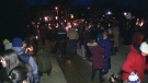 Candlelight vigil for Kaden Young