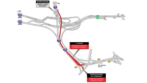 Only the northbound Turcot interchange lanes are closed the weekend of Feb. 23, 2018