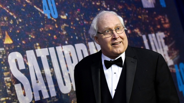 In this Feb. 15, 2015 file photo, Chevy Chase attends the SNL 40th Anniversary Special at Rockefeller Plaza, in New York. (Photo by Evan Agostini/Invision/AP)
