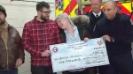 Toronto firefighters donate to house fire victims
