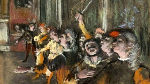 Edgar Degas' 1877 painting 'Les Choristes'