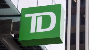 A TD Bank branch is seen in Halifax on Thursday, March 30, 2017. TD Bank says it is taking a pause on allowing customers to use its credit cards to buy cryptocurrency. (THE CANADIAN PRESS/Andrew Vaughan)