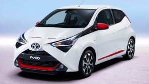 The facelifted Toyota Aygo is shown in this handout photo,