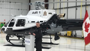 Edmonton police unveiled their new Air1 helicopter on Friday, February 23, 2018.