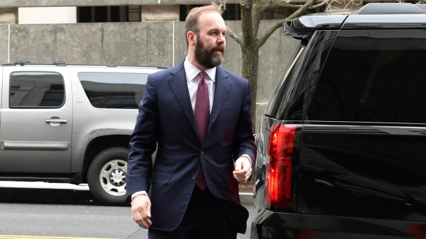 Rick Gates arrives at federal court in Washington, Friday, Feb. 23, 2018. (AP / Susan Walsh)