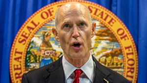 Florida Governor Rick Scott lays out his school safety proposal during a press conference at the Florida Capitol in Tallahassee, Fla., Friday, Feb 23, 2018. (AP / Mark Wallheiser)