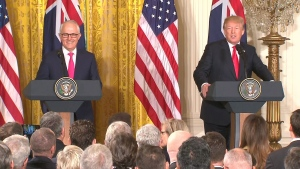 U.S. President Trump and Australian PM speak