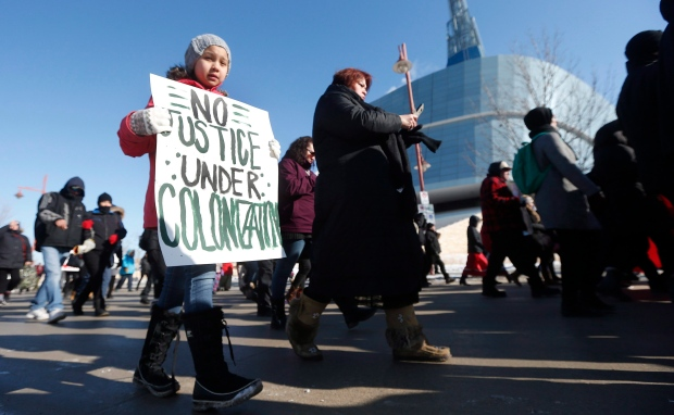 March for Tina Fontaine in Winnipeg