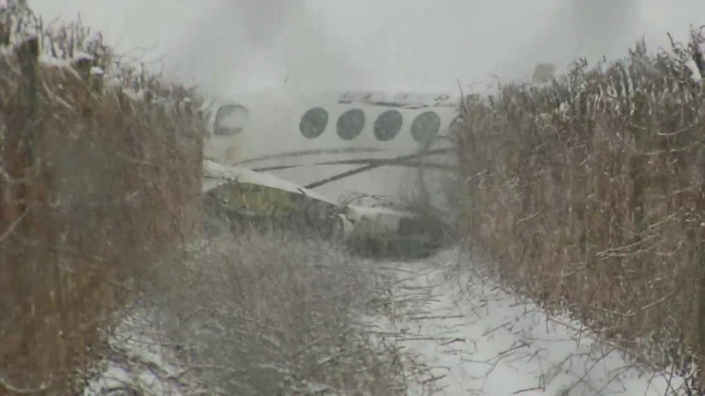 plane skids of runway during snow in Abbotsford