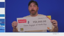Jason Degagne of North Bay wins on scratch ticket
