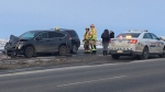 Trans-Canada Highway crash west of Calgary