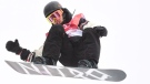 Sebastien Toutant of Canada competes in the men's snowboard big air final at the 2018 Winter Olympic Games in Pyeongchang, South Korea, Saturday, Feb. 24, 2018. THE CANADIAN PRESS/Jonathan Hayward