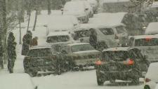 Winter blast causes headaches for island traveller
