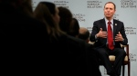Rep. Adam Schiff, D-Calif., ranking member on the House Intelligence Committee, speaks to the Council of Foreign Relations about Russia's election interference, Friday, Feb. 16, 2018. (AP Photo/Jacquelyn Martin)