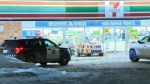 Two convenience stores were robbed overnight.