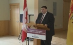 N.B. Transportation Minister Bill Fraser announces a new ferry for Belleisle Bay.