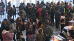 Hundreds of young people took part in the viewing of the new Black Panther movie.