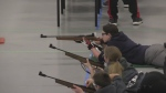 Cadet air rifle competition at HMCS Prevost