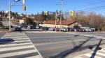 Intersection of Holland Street West and Toronto Street in Bradford seen here on February 24, 2018. (CTV News Barrie)