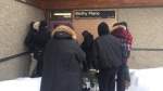 Reporters are locked out of a La Loche courtroom on Feb. 23, 2018 (Angelina Irinici / CTV Saskatoon)