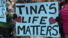 Rally in Regina shows support for Tina Fontaine.
