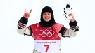 Sebastian Toutant of Canada wins Gold in the Men's Big Air Finals at the Alpensia Ski Jumping Centre during the PyeongChang 2018 Olympic Winter Games in PyeongChang, South Korea on February 24, 2018. (THE CANADIAN PRESS/HO-COC, Vaughn Ridley)