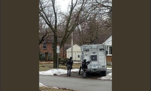 Police attend home on Talbot Street about erratic man on Saturday, Feb. 23, 2018