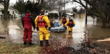 Emergency personnel rescued 13 people from their homes in Chatham on Saturday, Feb. 24, 2018.