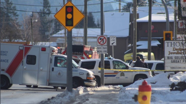 The father was allegedly resisting arrest when an RCMP officer deployed a Taser near Vedder and Well roads in Chilliwack.