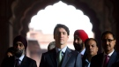 Prime Minister Justin Trudeau visits the Jama Masjid Mosque in New Delhi, India on Thursday, Feb. 22, 2018. (THE CANADIAN PRESS/Sean Kilpatrick)