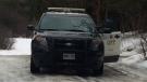 OPP remain on scene of a triple murder-homicide near Burk's Falls on Sunday, February 25, 2019. (CTV Barrie/Rob Cooper)