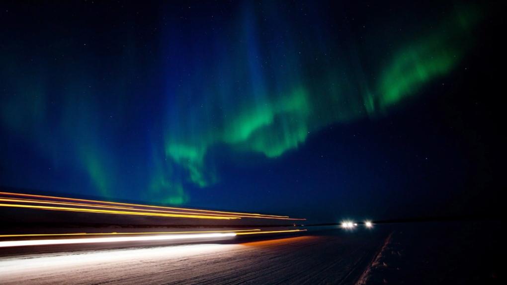 Aurora borealis near Yellowknife, N.W.T.