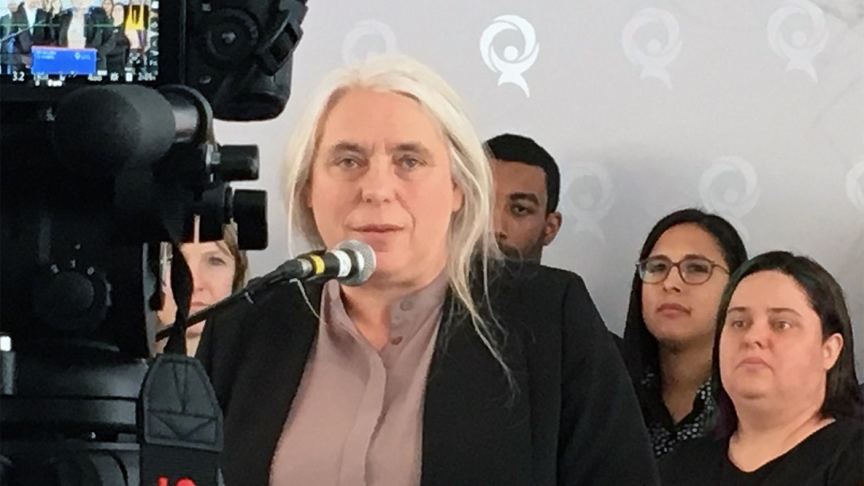 Manon Massé will lead Quebec Solidaire into the 2018 provincial election (CTV Montreal/Kelly Grieg)