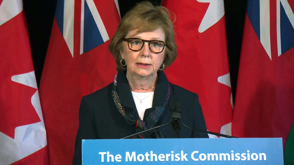 The Honourable Judith C. Beaman, Commissioner of the Motherisk Commission, releases her report in Toronto, Monday, Feb. 26, 2018.