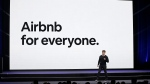 Airbnb co-founder and CEO Brian Chesky speaks during an event Thursday, Feb. 22, 2018, in San Francisco. (Eric Risberg/AP Photo)