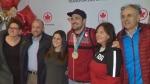Sam Edney - silver medal luge, returns to Calgary