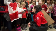 Double gold medallist Tessa Virtue in London, Ont.