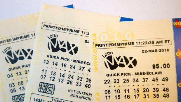 Ontario ticket takes Friday night's $55 million Lotto Max jackpot