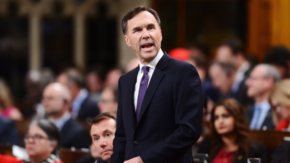 Finance Minister Bill Morneau delivers the federal budget in the House of Commons in Ottawa on Tuesday, Feb.27, 2018. (THE CANADIAN PRESS/Sean Kilpatrick)