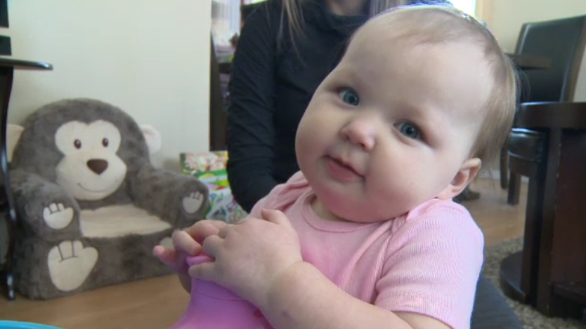 Ireland Gault is the youngest recipient of cochlear implants in Manitoba.