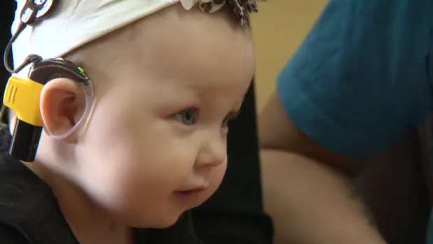 Tears Of Joy Baby Hears Parents For First Time After