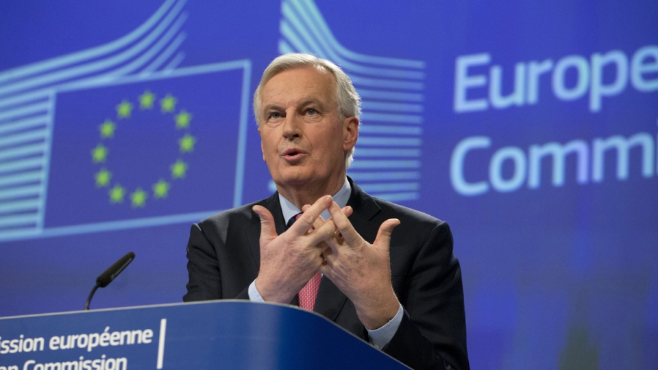 European Union chief Brexit negotiator Michel Barnier at EU headquarters in Brussels on Feb. 28, 2018. (Virginia Mayo / AP)