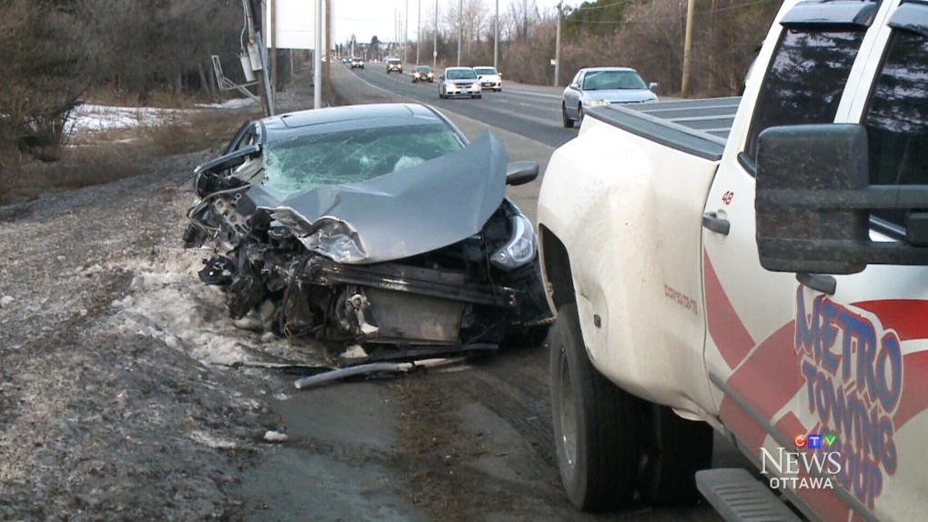 Man sent to hospital after morning crash | CTV News Ottawa