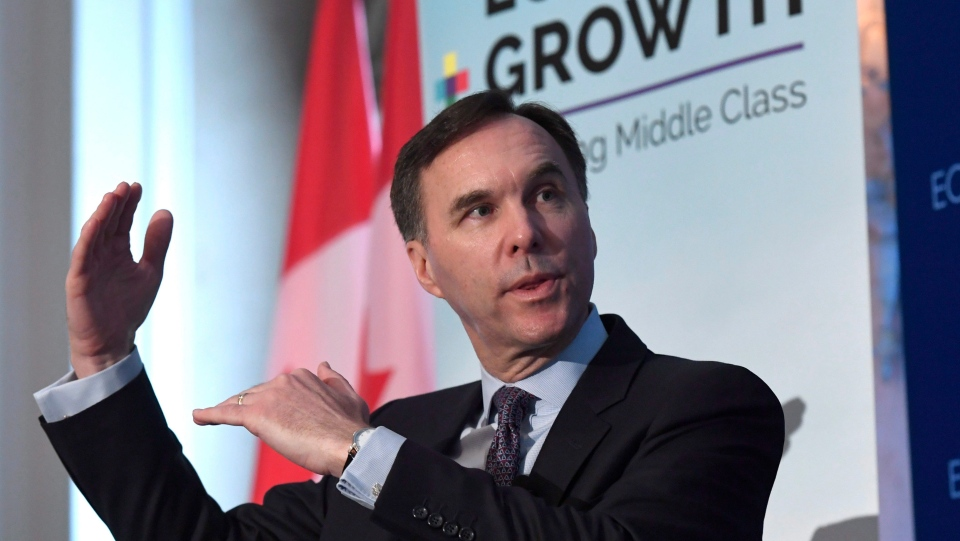 Minister of Finance Bill Morneau participates in a post-budget discussion at the Economic Club of Canada in Ottawa on Wednesday, Feb. 28, 2018. THE CANADIAN PRESS/Justin Tang