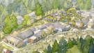 File photo: A rendering is shown for a similar village for people with dementia in Langley, B.C.