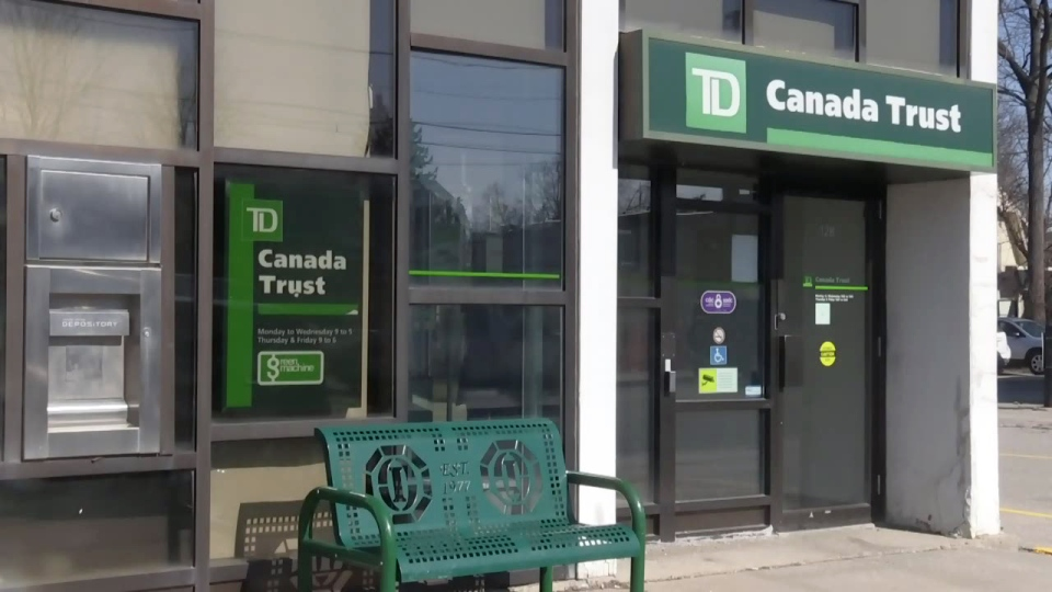 The TD Canada Trust branch in Burford, Ont., is pictured on Wednesday, Feb. 28, 2018.
